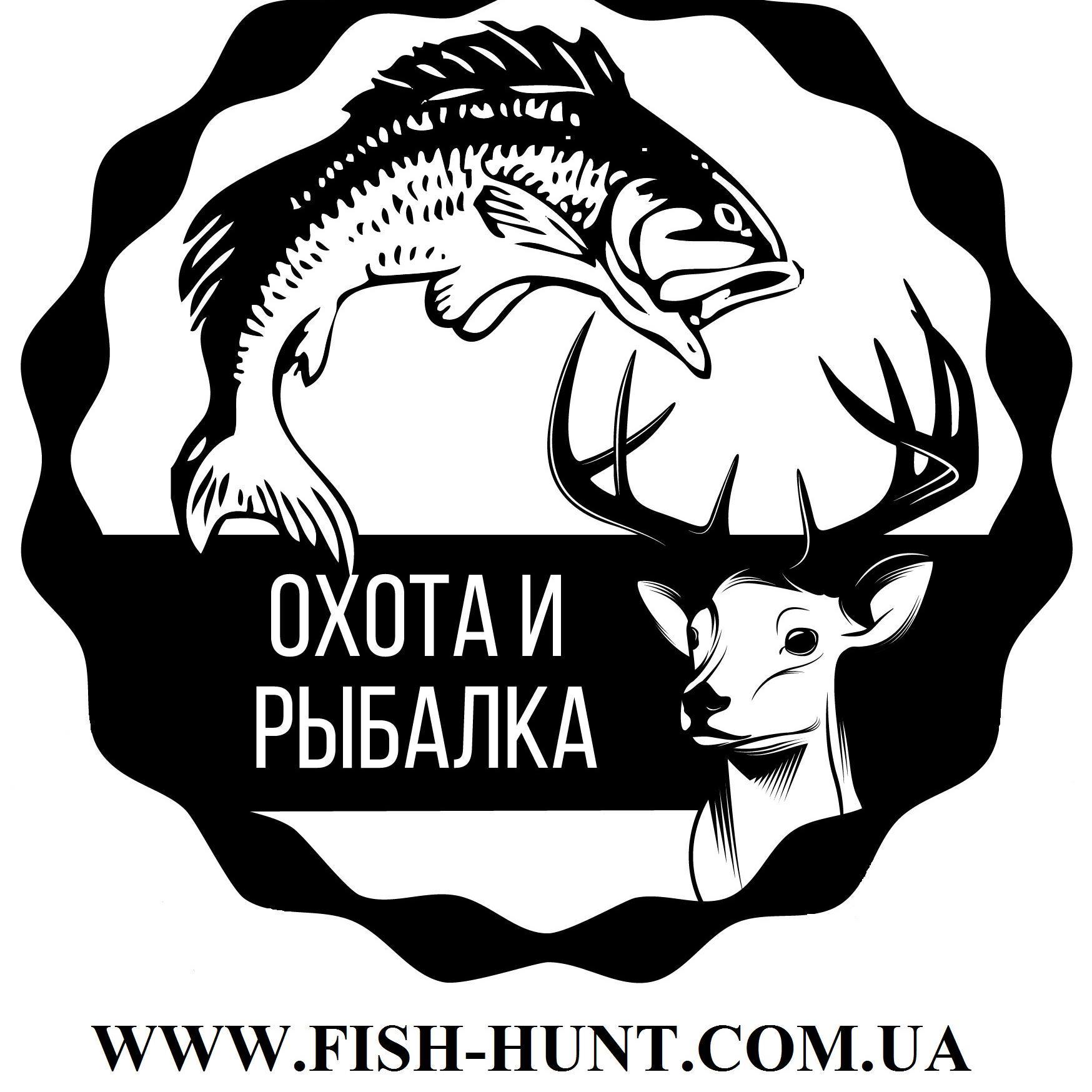 Эмблема рыбалки и охоты