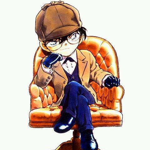 椅子に座る名探偵コナン