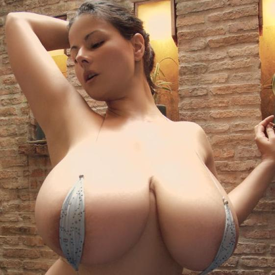 black busty model
