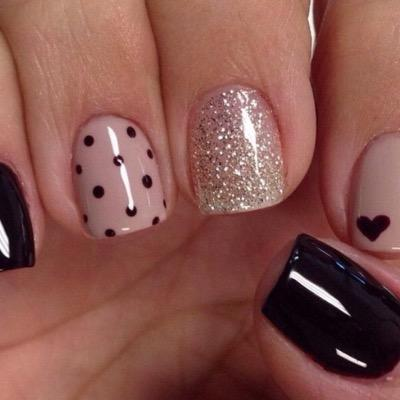 Uñas Gelish On Twitter Diseño En Negro Httptco