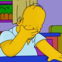 Homer facepalm icon reasonably small