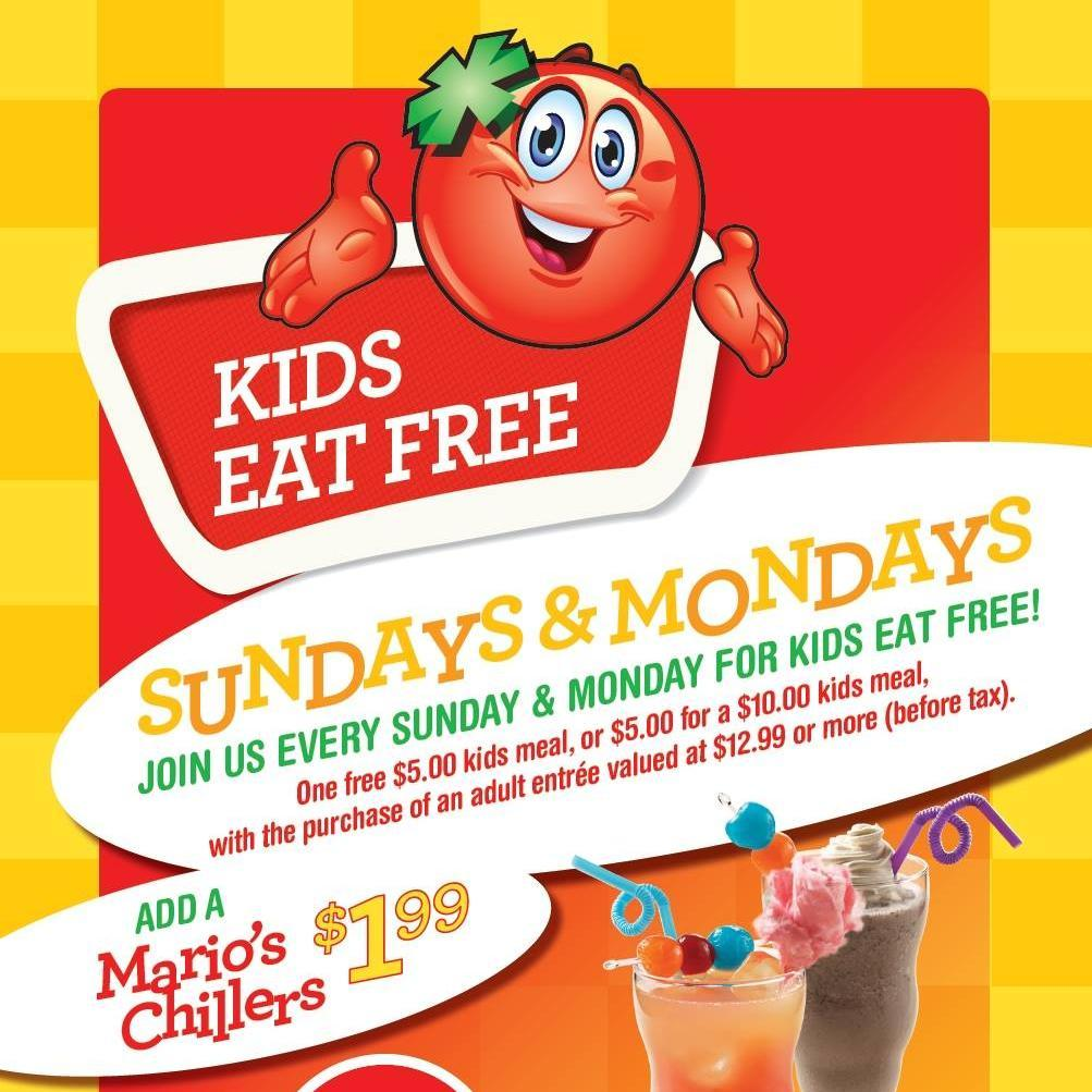Resultado de imagem para east side mario's kids eat free