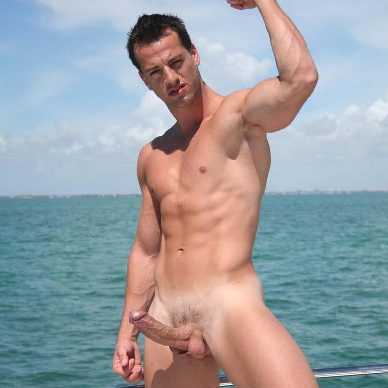 Naked shaved erect men