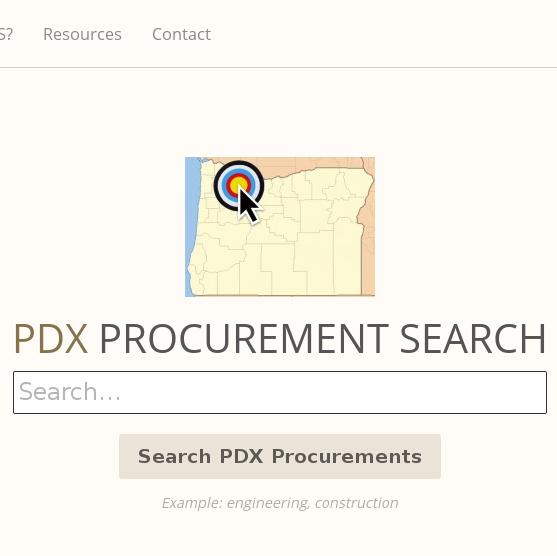 PdxProcurementSearch