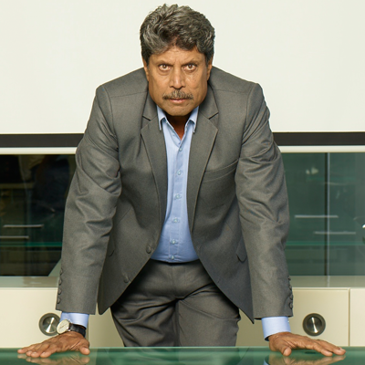 Kapil Dev  - 2018 Brown/Black hair & alternative hair style.