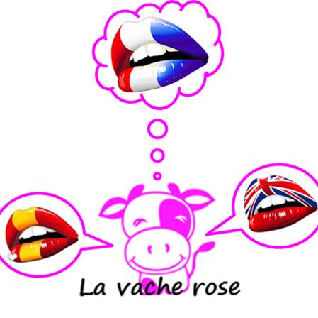 La vache rose