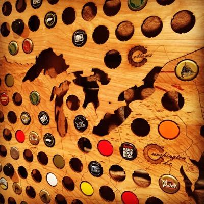 Beer Cap Maps Beercapmaps Twitter - Michigan bottle cap map