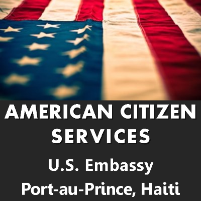 The official Twitter account of the American Citizen Services Unit • Embassy of the United States in Port-au-Prince, Haiti. Also check @USEmbassyHaiti.