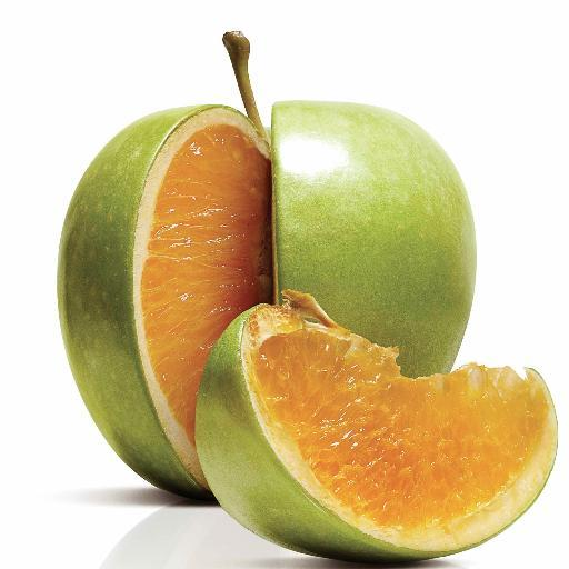 Freakonomics picture of part apple part orange