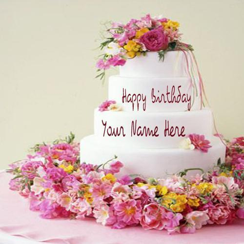 Happy Birthday Cake With Name Inserted