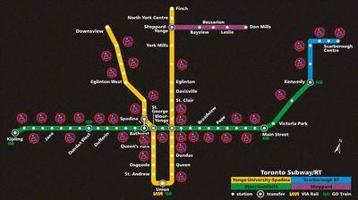 Ttc Subway Map 2025.Ttc Elevators On Twitter This Is What The Ttc Looks Like For