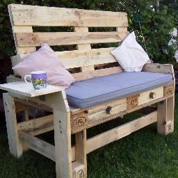 Pleasant 101 Pallet Furniture On Twitter Pallet Chair And Double Customarchery Wood Chair Design Ideas Customarcherynet