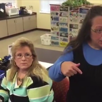 Formerly next to Kim Davis