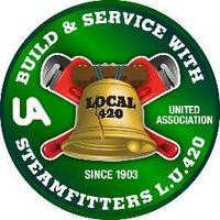420 Steamfitters (@420Steamfitters) Twitter profile photo