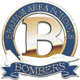 loadanim Braham Area High School Bombers Men's Baseball T-Shirt