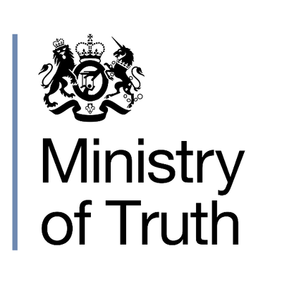 the slogan of the ministry of truth In george orwell's novel 1984, the four ministries are: the ministry of truth, the ministry of peace, the ministry of plenty, and the ministry of love the ministry of truth controls the media.