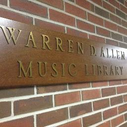Allen Music Library sign