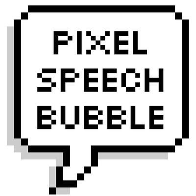 Pixel Speech Bubble on Twitter: