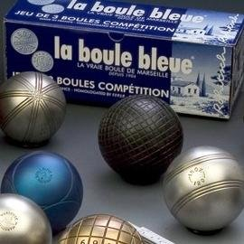 La boule bleu