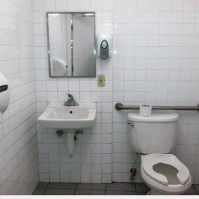 Gas station toilet xv skinny dirty blonde