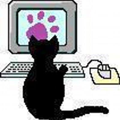 зимнем кот программист гифка вот вырос