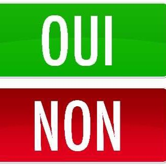 Sondages oui non sondagesouinon twitter for Oui non minimaliste