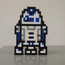 Lego Pixel Art Guy On Twitter Creation 25 Bb 8 Open
