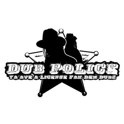 WHITE Logo DUBPOLICE HOODIE Black