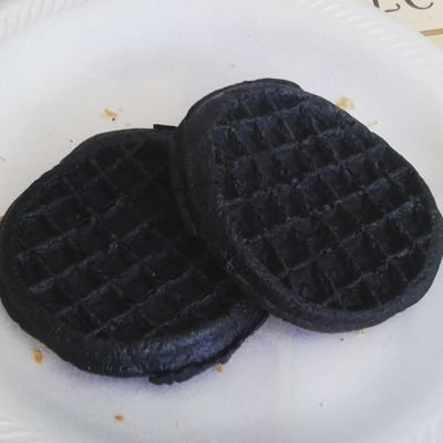 Burned waffles.