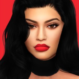 kylie jenner sim on twitter lazy day sim sims4 thesims4