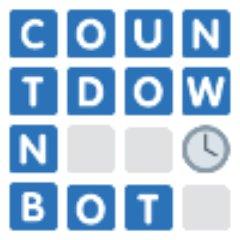 Countdown bot (@lettergamebot) | Twitter