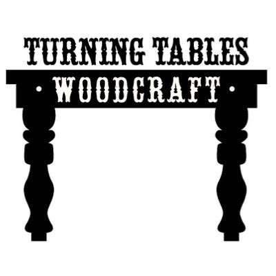 Trnngtblswdcrft on rustic log tables