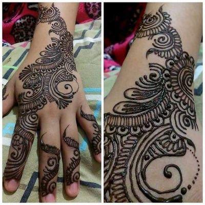 Henna Queen On Twitter Simple Henna Design On My Hand Henna
