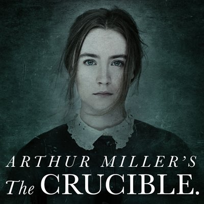 """the crucible the importance of a Michael billington on the crucible: """"full of raw power""""  the time to create  imagery and allow the society to function, which was very important."""