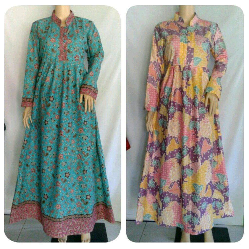 Gamis batik modern jualgamisbatik twitter Baju gamis batik anak2