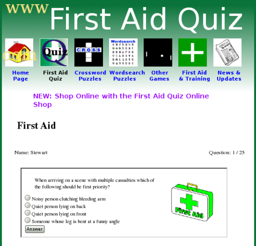 First Aid Quiz's profile