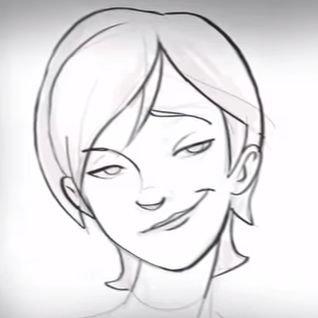 how to draw smug face