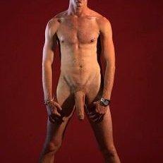 bathing man nude penis