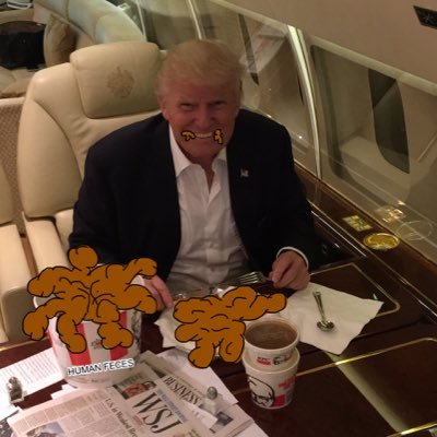 Image result for trump eating shit