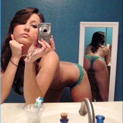 Teen Bent Over Selfie