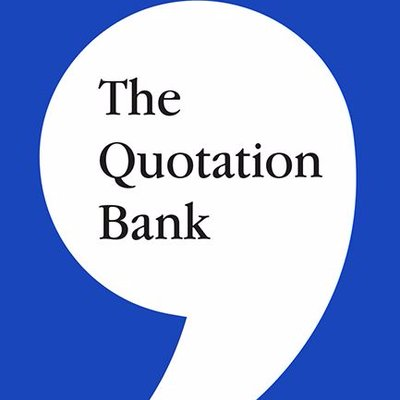 The Quotation Bank (@QuotationBank) Twitter profile photo