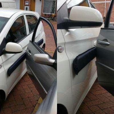2 m 250 mm 8,5 mm blanco protecci/ón autoadhesiva de borde de puerta de coche impermeable Protecci/ón de pared de garaje MegaQ Premium