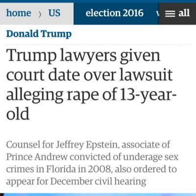 donald trump jeffrey epstein rape lawsuit affidavits