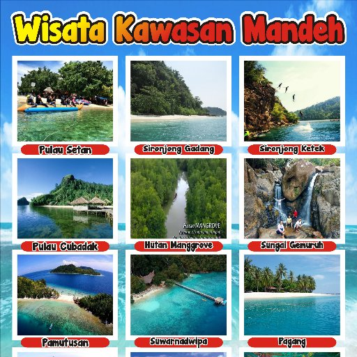 Hasil gambar untuk pulau mandeh