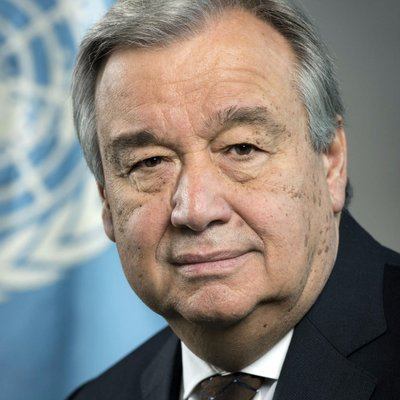 António Guterres (@antonioguterres) Twitter profile photo