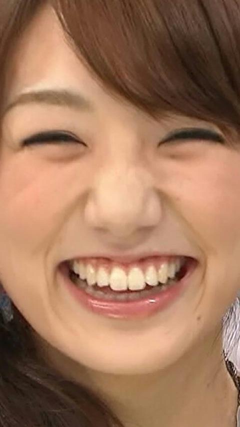 画面いっぱいの松村未央