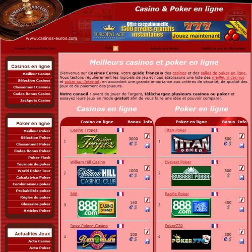 casino euros