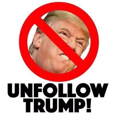 Unfollow Trump on Twitter