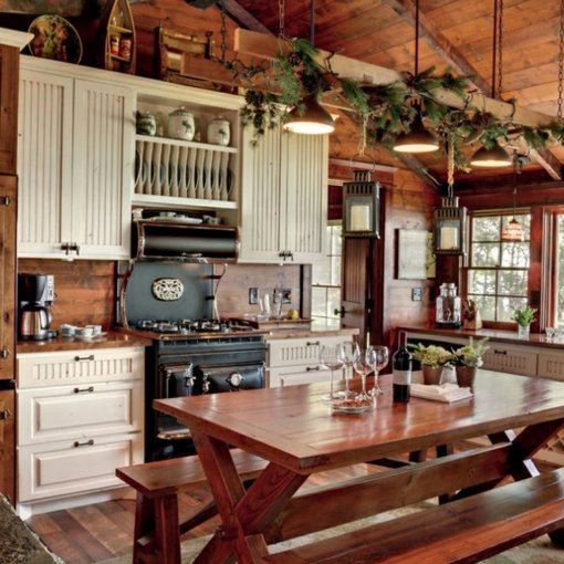 Cabin Kitchen Cabinets: A.J. (@Aululim)