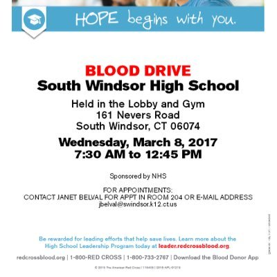 Swhs Blood Drive At Swhsblooddrives Twitter